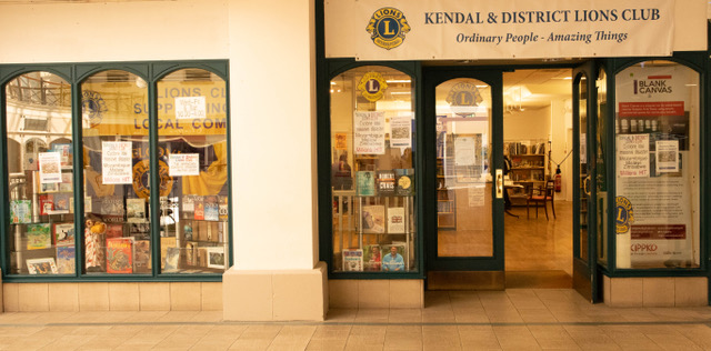 Front of the new Kendal & District Lions bookshop in Westmorland Shopping Centre.