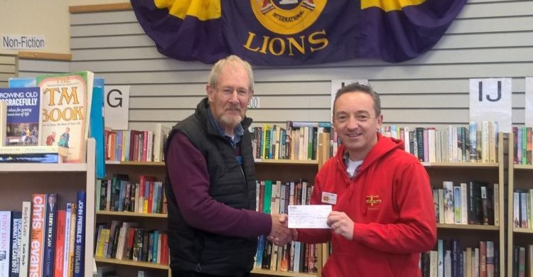 Cheque presentation to Boxes of Hope